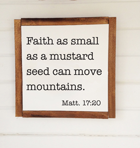 faith as small as a mustard