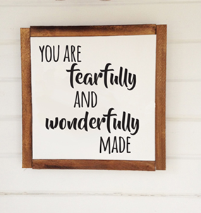 you are fearfully and wond